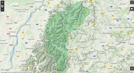 Nordschwarzwald Karte.Rotwildkonzeption Nordschwarzwald