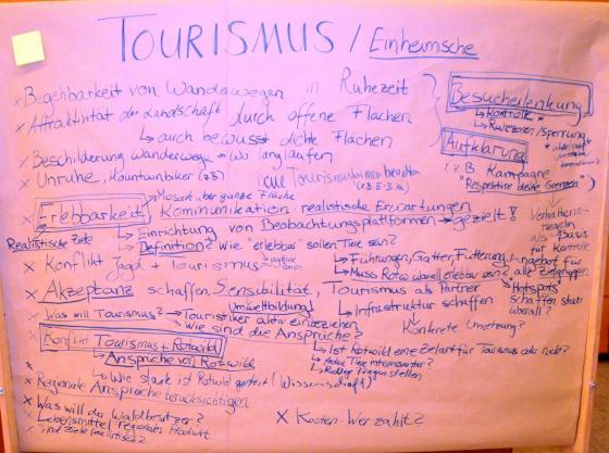 Ergebnisse Diskussion Gruppe Tourismus Forbach